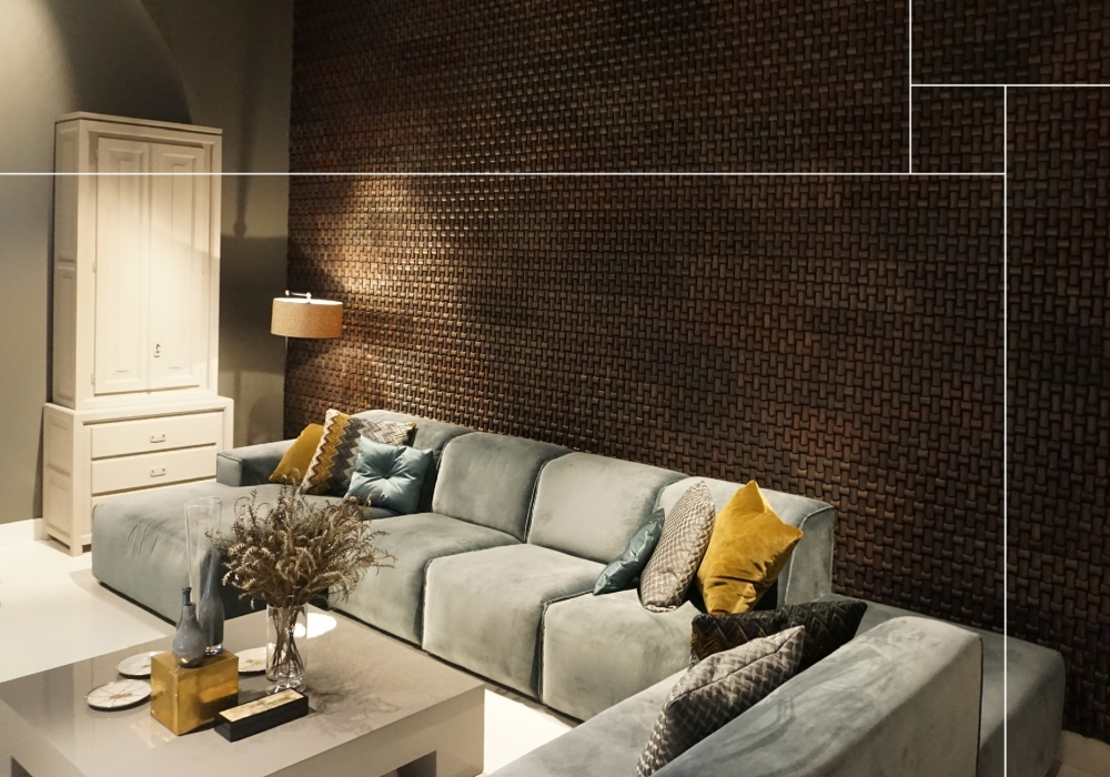 500415 Rumah gadang envi antracite wooden wall livingroom