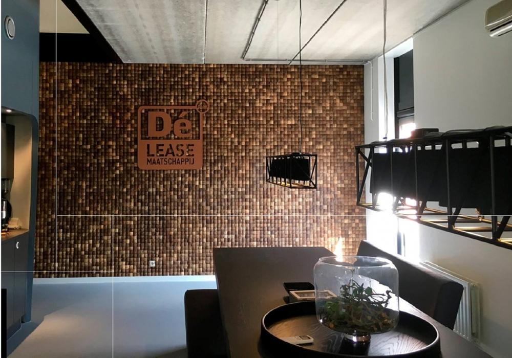 Project Musalaki coco large wall office DE leasemaatschappij by Pro Logo
