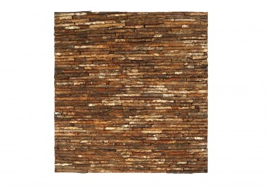 Candi Bima mahogany bark line natural paneel vooraanzicht