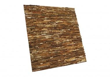 Candi Bima mahogany bark line natural paneel zijaanzicht