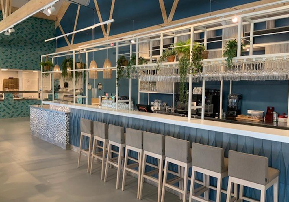 100233 Honai Mosaic kokosnoot bar bekleding Roompot Nieuwvliet Bad
