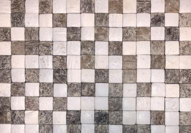 100233 Honai Mosaic kokosnoot wandbekleding vooraanzicht