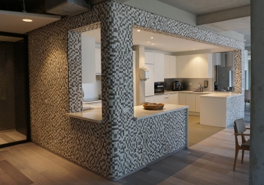 Honai Mosaic  counterbekleding Zuidoever Amsterdam