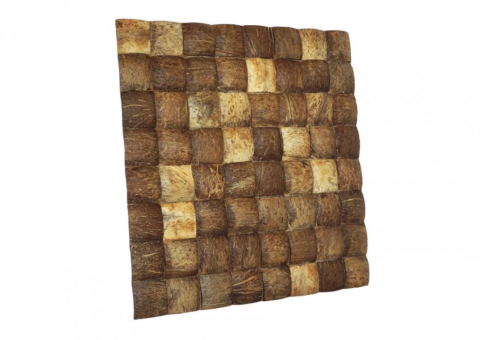 Musalaki coco large grain natural paneel zijaanzicht