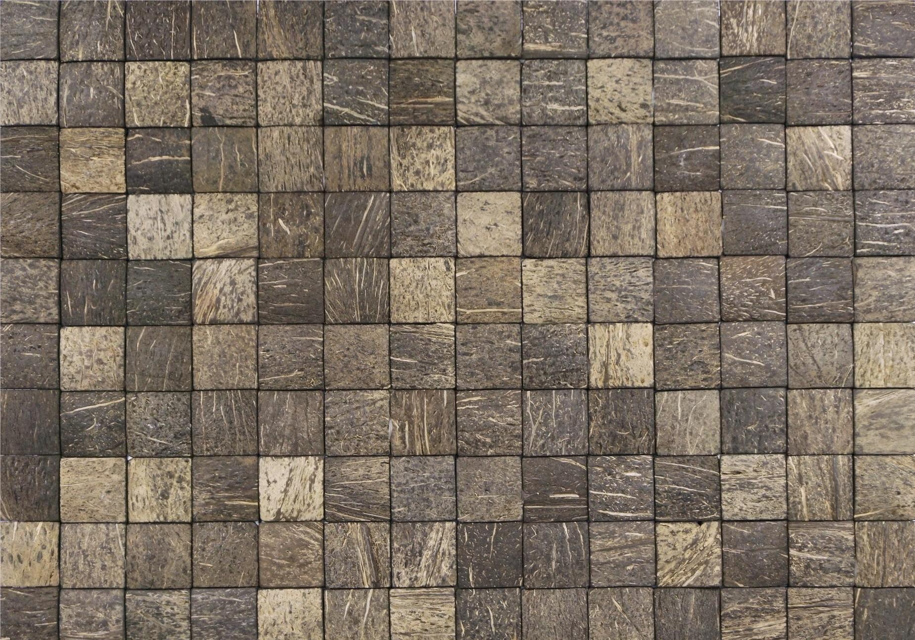 Donkerbruine kokosnoot Honai coco evo grain aqua brown uit de Causeway Stones collectie