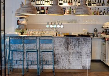 Project bar met Bagonjong coco bliss patina white