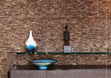 Project tafel met Omo Niha coco stone grain natural