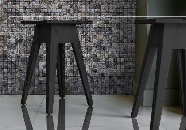 Project zwarte krukjes met Honai coco evo grain patina white
