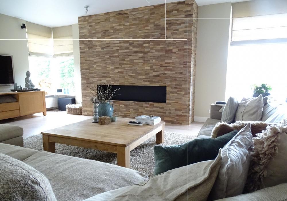Project woonkamer met Joglo Envi Brick Natural