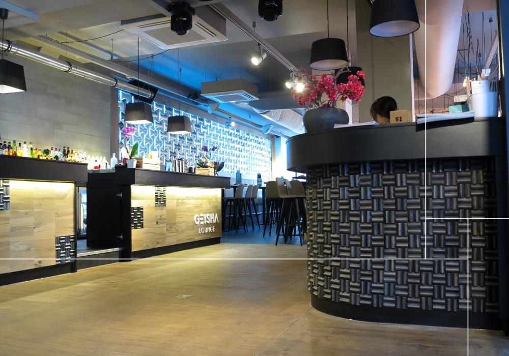 Project Geisha Lounge met Limas mango grand pyramid espresso