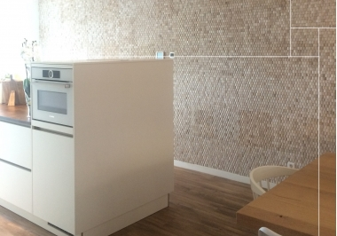 Project keuken met Baileo envi neo pyramid white wash