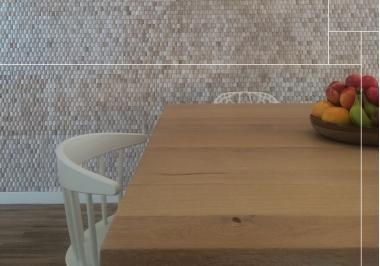Project keukentafel met Baileo envi neo pyramid white wash