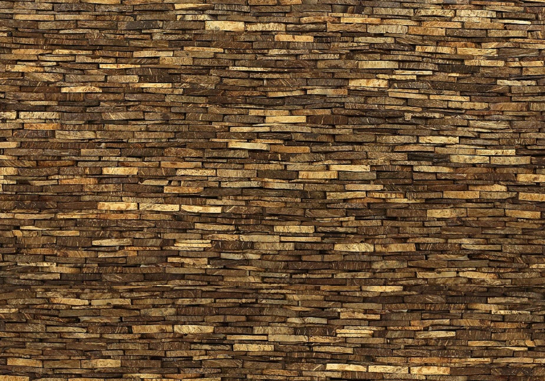 Bruine kleurenmix kokosnoot Omo Niha coco stone grain natural uit de Bungle Bungles collectie