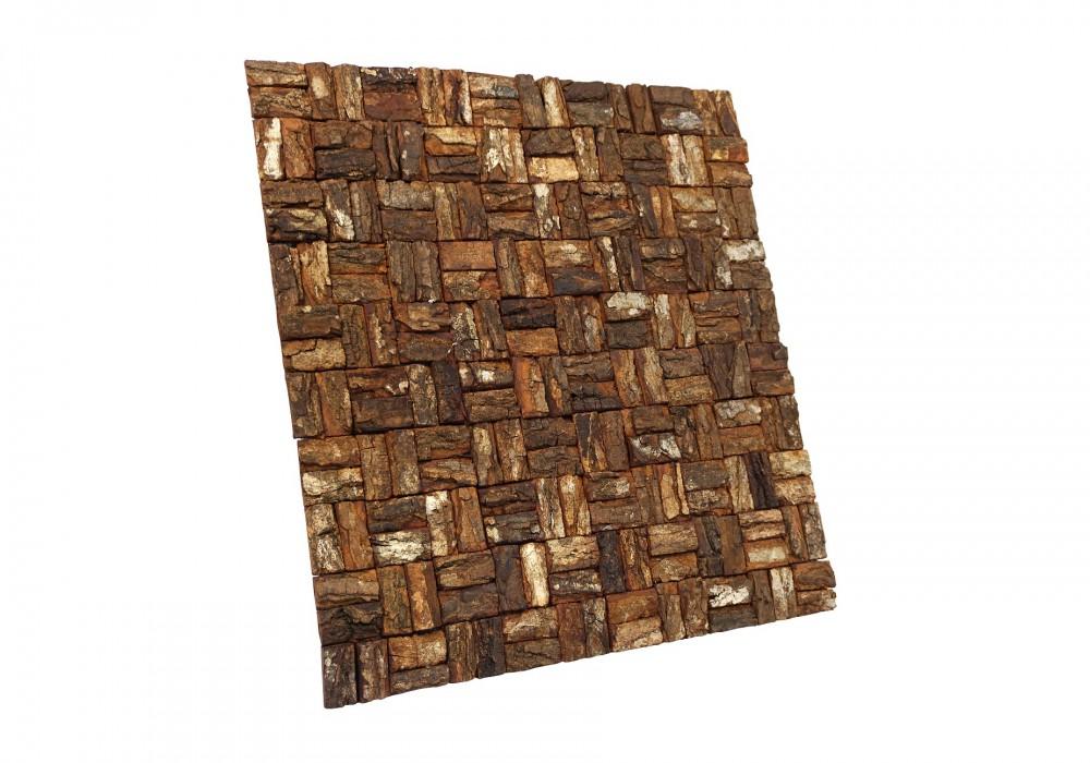Prambanam mahogany bark natural paneel zijaanzicht