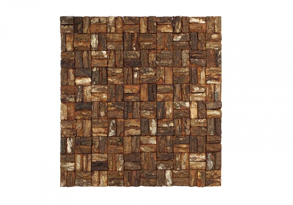 Prambanam mahogany bark natural paneel vooraanzicht