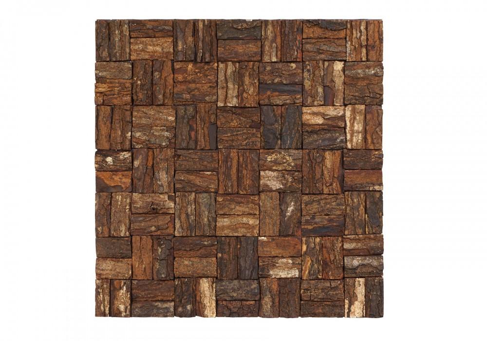 Prambanam besar mahogany bark natural paneel vooraanzicht